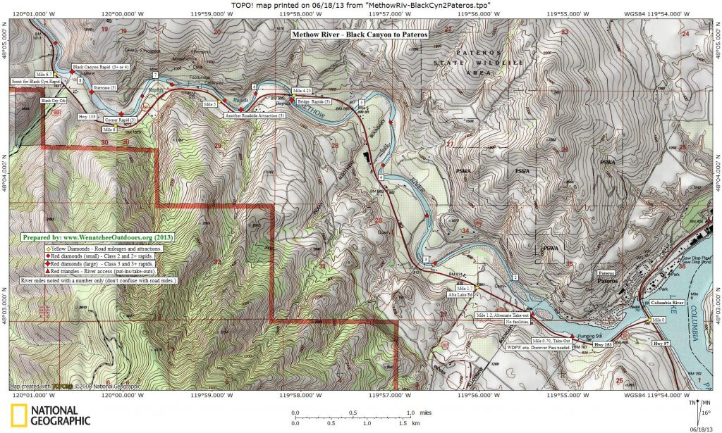 MAP 2: Black Canyon to Pateros