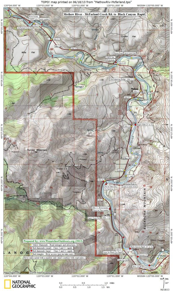 MAP 1:  McFarland to Black Canyon