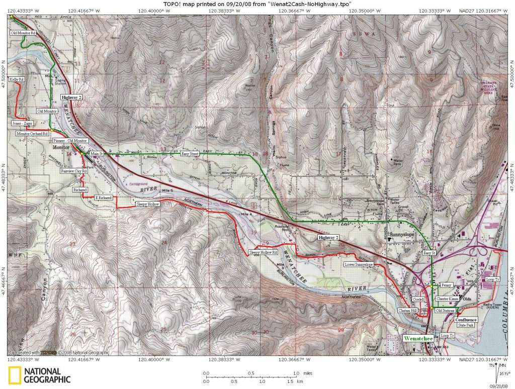 MAP 1: Wenatchee to Monitor