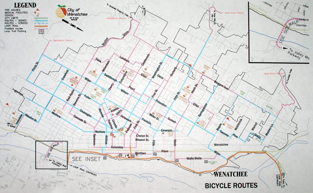 City of Wenatchee Bike Map