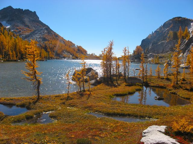 Photo by Drew Gaylord. Perfection Lake in the Enchantments.