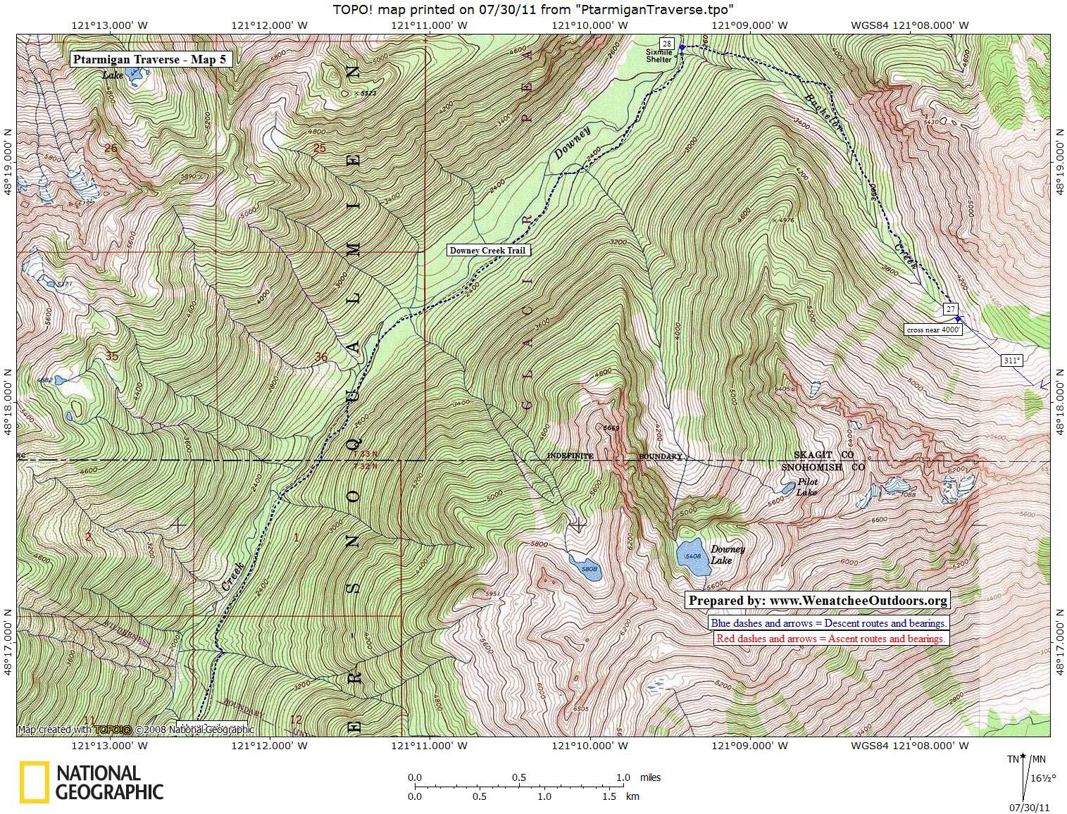 MAP 5: Bachelor Creek to Downey Creek