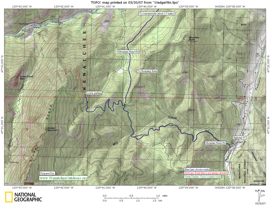 Hiking Topo Map
