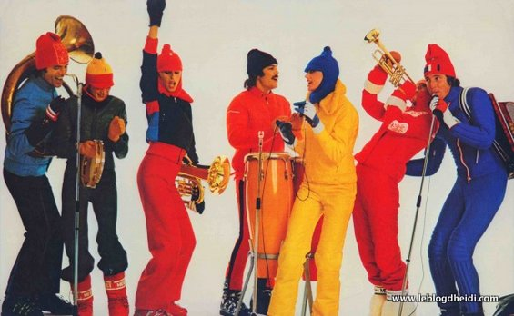 Ski trends in the 1970s included wearing yellow jumpsuits, holding tubas, and playing tambourine with your 'mates. Did Les leave the ski world just in time? Or, waay too soon?
