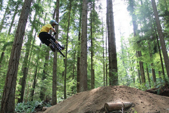 At Duthie Hill bike park in Issaquah.